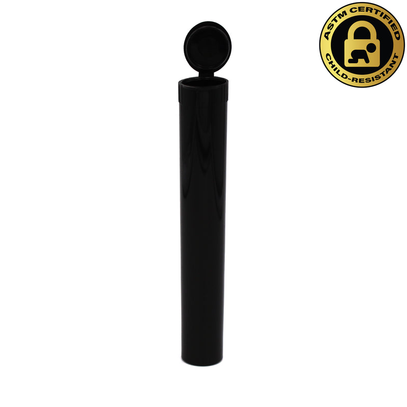 Child-Resistant Opaque Black 116mm GriploK Pre-Roll Tube