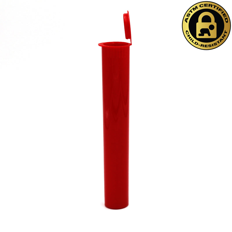 Child-Resistant Opaque Red 116mm GriploK Pre-Roll Tube