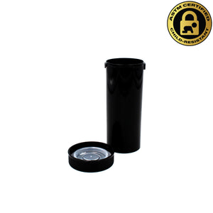 Black Opaque 13 Dram Push & Turn Vial with Child-Resistant Cap