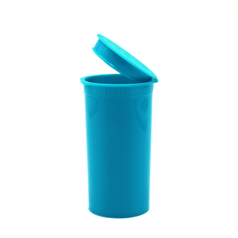 Aqua 13 Dram GriploK Child-Resistant Pop Top Bottle