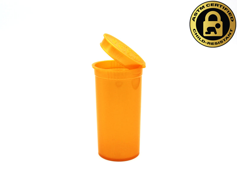 Gold Opaque 13 Dram GriploK Child-Resistant Pop Top Bottle