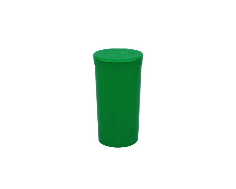 Green Opaque 13 Dram GriploK Child-Resistant Pop Top Bottle