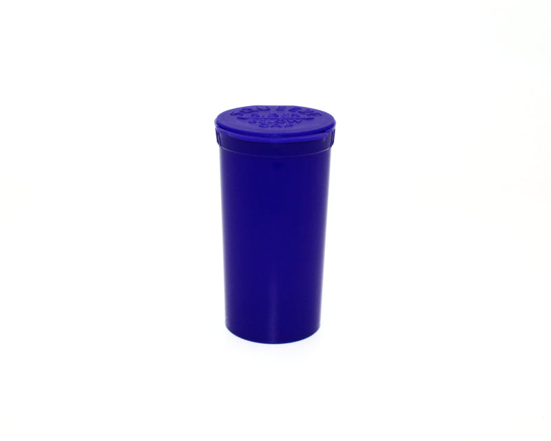 Purple Opaque 13 Dram GriploK Child-Resistant Pop Top Bottle