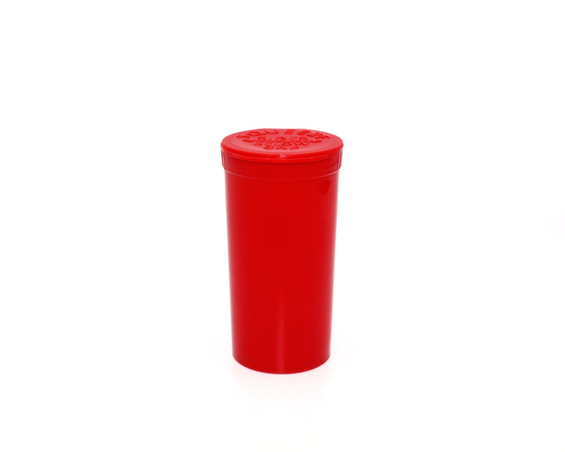Red Opaque 13 Dram GriploK Child-Resistant Pop Top Bottle