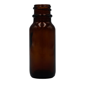 15ml (.5oz) Amber Opaque Glass Boston Round Dropper Bottle