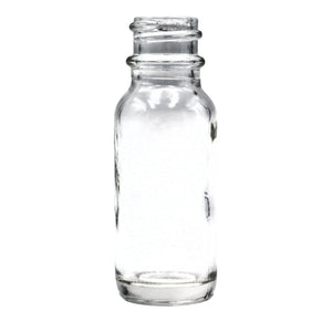 15ml (.5oz) Flint/Clear Glass Boston Round Dropper Bottle