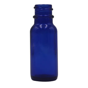 15ml (.5oz) Cobalt Opaque Glass Boston Round Dropper Bottle