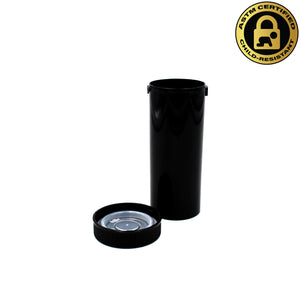 Black Opaque 16 Dram Push & Turn Vial with Child-Resistant Cap