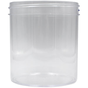 Clear 16oz Wide Mouth Plastic Jars for Flower