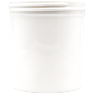 White Opaque 16oz Wide Mouth Plastic Jars for Flower