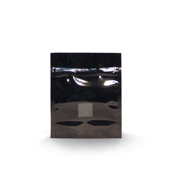 1/2oz (14g) Black Opaque Mylar/High-Barrier Bags with UV-Resistant Window