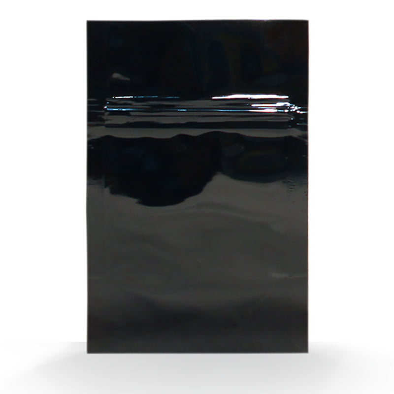 1/8oz (3.5g) Black Opaque Mylar/High-Barrier Bags with Zipper