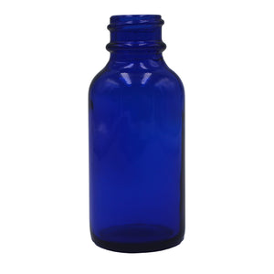 30ml (1oz) Opaque Cobalt Glass Boston Round Dropper Bottle