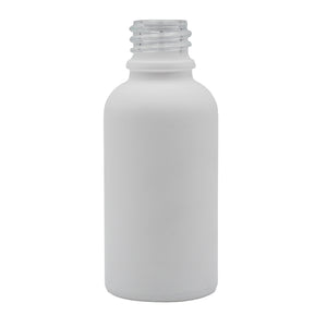 30ml (1oz) Opaque White Glass Boston Round Dropper Bottle