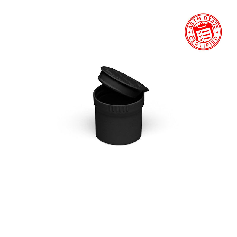 Black Opaque 10ml Child-Resistant Pop Top Concentrate Container