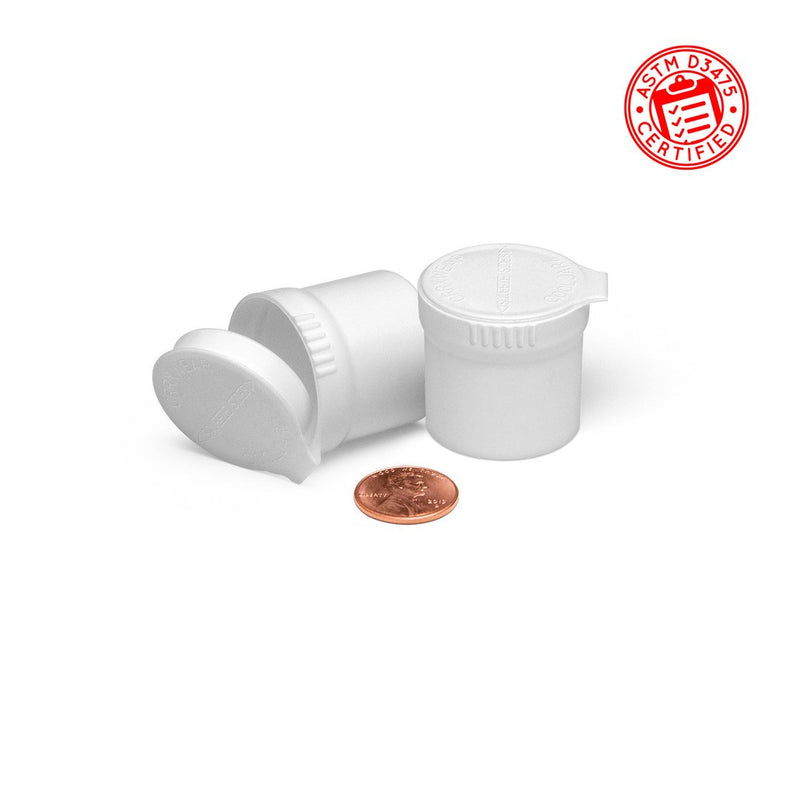 White Opaque 10ml Child-Resistant Pop Top Concentrate Container