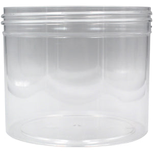 Clear 1oz Wide Mouth Plastic Jars
