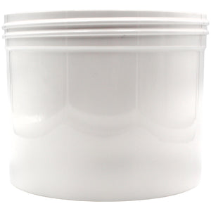 White 1/4oz Wide Mouth Plastic Jars for Flower