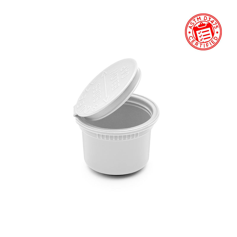 White Opaque 11 Dram Child-Resistant Pop Top Jar