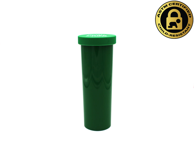 Opaque Green 60 Dram Push & Turn Vial with Child-Resistant Cap