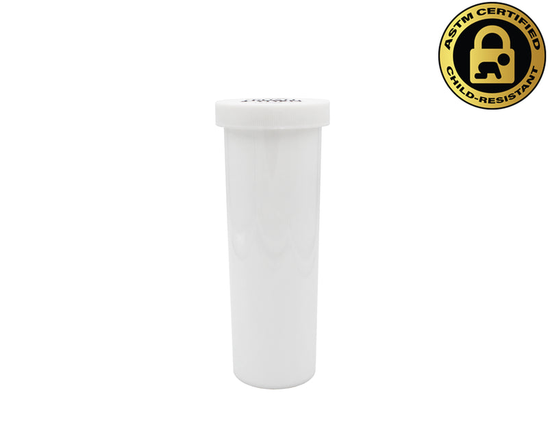 Opaque White 60 Dram Push & Turn Vial with Child-Resistant Cap