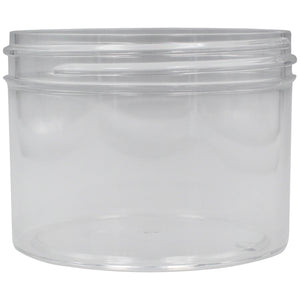 Clear 8oz Wide Mouth Plastic Jars