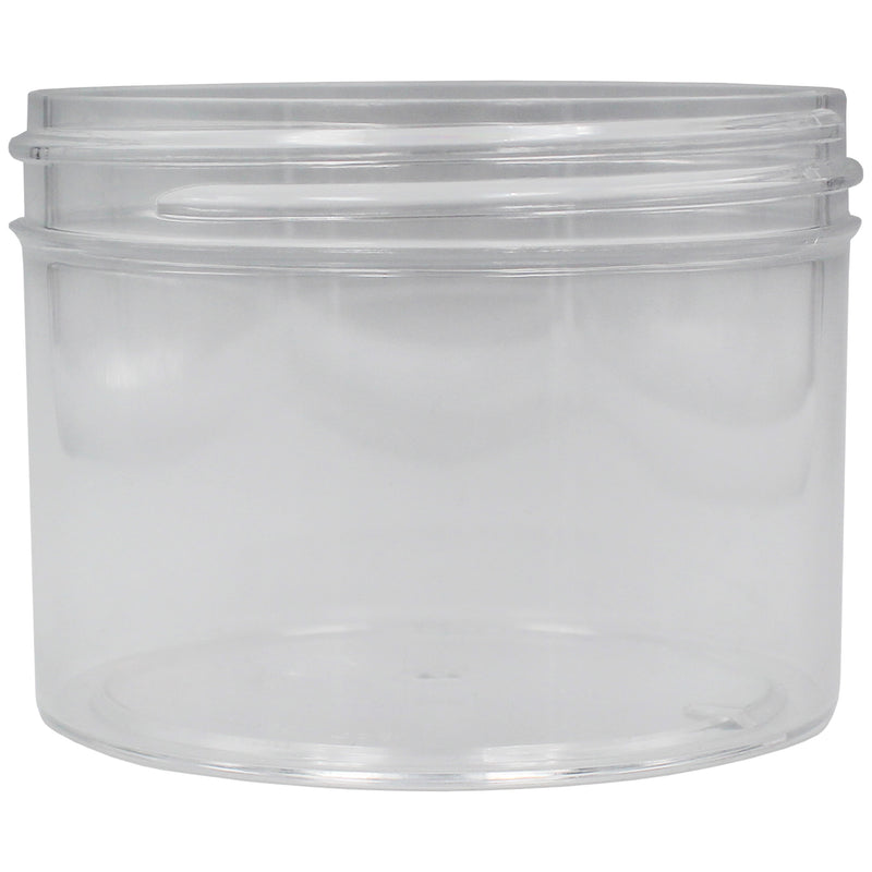 Clear 8oz Wide Mouth Plastic Jars for Flower