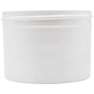 Opaque White 8oz Wide Mouth Plastic Jars for Flower