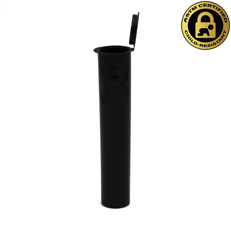 Child-Resistant Opaque Black 98mm GriploK Pre-Roll Tube