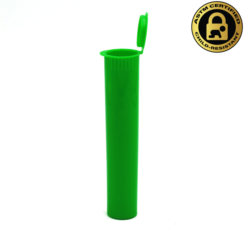 Child-Resistant Opaque Green 98mm GriploK Pre-Roll Tube