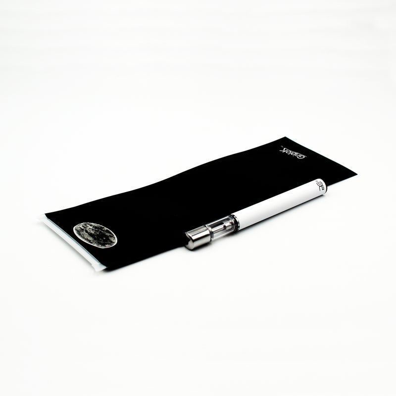 "Black Matte GriploK 2.5""x7"" Exit Bag with 0.3ml PureCore Disposable Pen in White with Micro-USB Chargers"