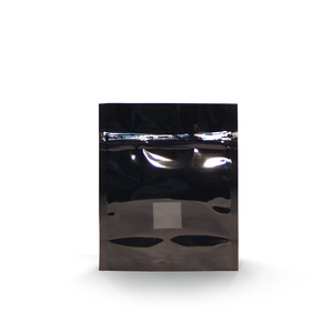 1oz High Barrier Bags in Black with Window ($0.293/unit)