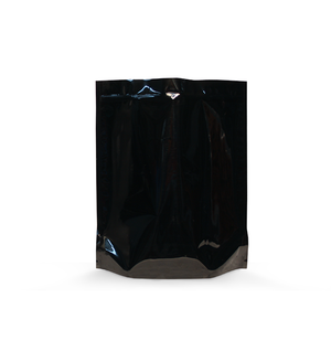 1lb Mylar/High-Barrier Dispensary Bags in Black (0.96/Unit) - GrowCargo
