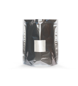 1lb High Barrier Grower Bags in Silver with Window (1.24/Unit) - GrowCargo