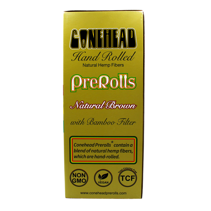 ConeHead Natural Brown 98 Specials Size Hand Rolled Premium Hemp Cones with Bamboo Filters