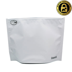 "12""x9""x4"" Opaque White Child-Resistant GriploK Exit Bag"