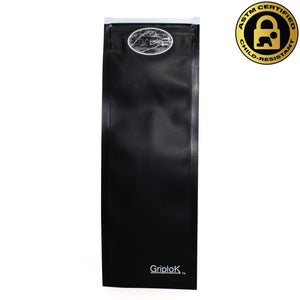 "2.5""x7"" Opaque Black Child-Resistant GriploK Exit Bags for Pre-Rolled Cones/Vape Pens"
