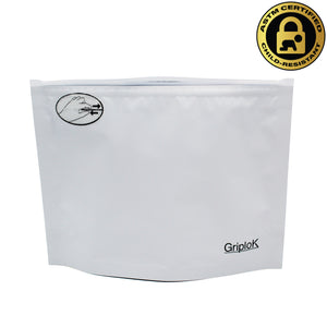 "8""x6""x3"" Opaque White Child-Resistant GriploK Exit Bag"