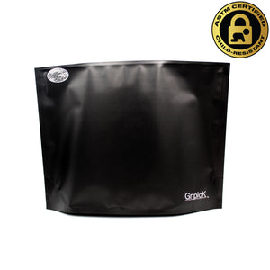 "12""x9""x4"" Opaque Black Child-Resistant GriploK Exit Bag"