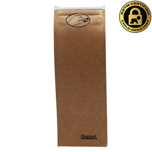 Pre-Roll/Vape 2.5x7 Inch GriploK Certified Child-Resistant Exit Bags in Kraft for Cannabis Dispensaries