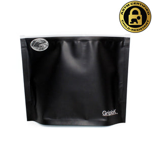 "8""x6""x3"" Opaque Black Child-Resistant GriploK Exit Bag"