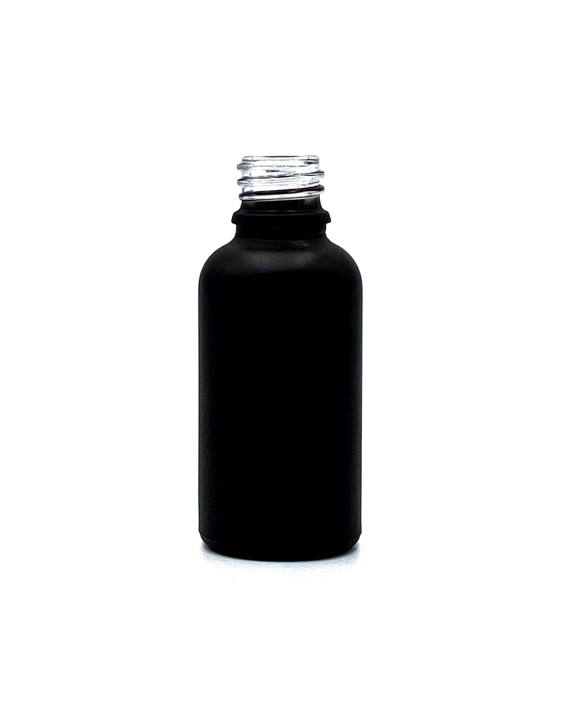 15ml (.5oz) Matte Black Opaque Glass Dropper Bottle (0.28/Unit)