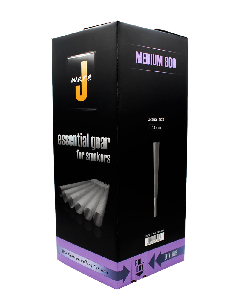 JWARE Medium Size Cones, 800 Count (98mm Height/25mm Filter)