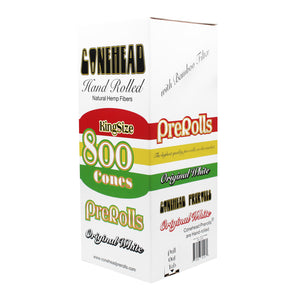 ConeHead Original White King Size Hand Rolled Premium Hemp Cones with Bamboo Filters