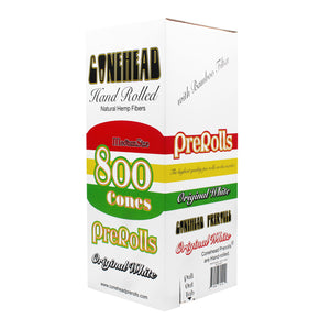 ConeHead Original White 98 Specials Size Hand Rolled Premium Hemp Cones with Bamboo Filters