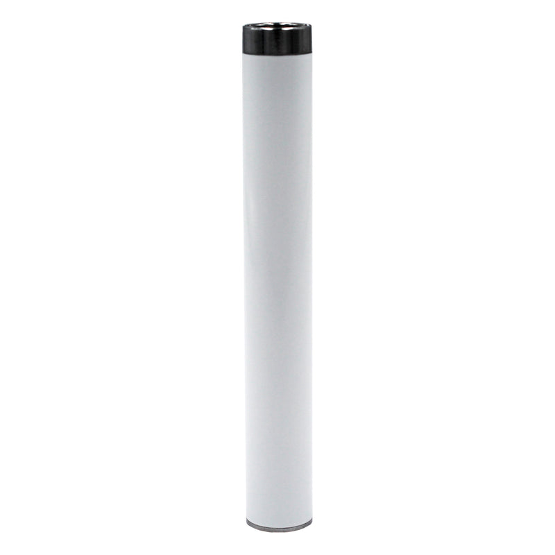 White Adjustable Voltage 510 Vape Cartridge Battery with Button and USB Charger