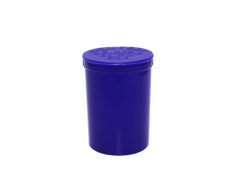 Opaque Purple 30 Dram GriploK Child-Resistant Pop Top Bottle