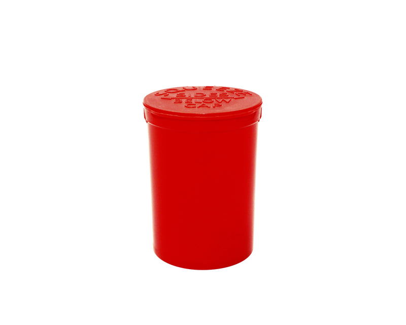 Opaque Red 30 Dram GriploK Child-Resistant Pop Top Bottle