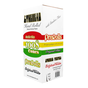 ConeHead Original White Reefer Size Hand Rolled Premium Hemp Cones with Bamboo Filters