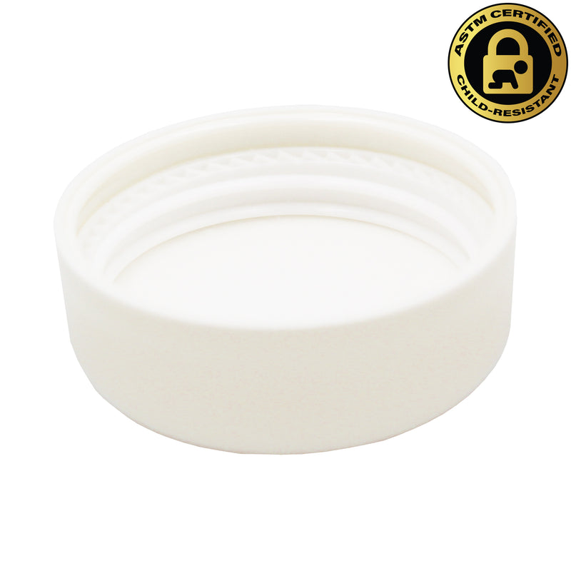 Certified Child-Resistant White Dome Lid for 9ml White GriploK Glass Concentrate Jars
